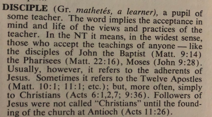 Definition of Disciple Bible Dictionary